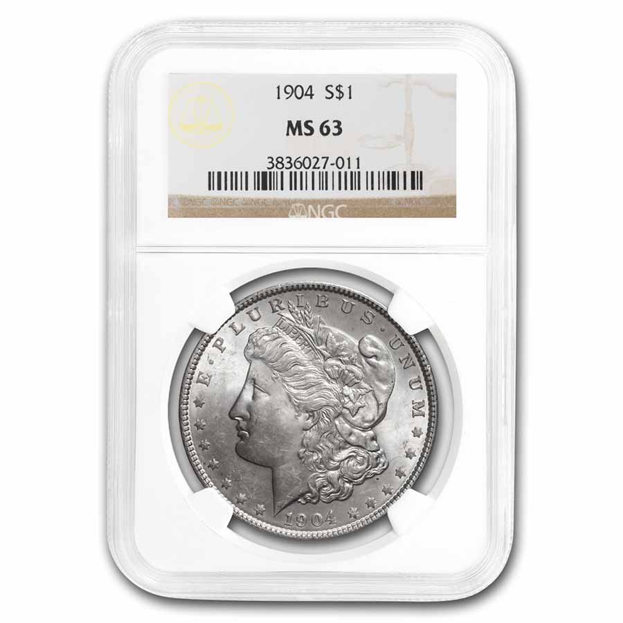 1904 Morgan Dollar MS-63 NGC